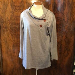 Tops - Grey Long Sleeve Top Size L